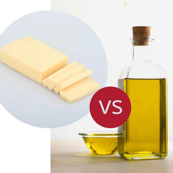 ¿Aceite de oliva o mantequilla? ¿Qué es mejor para cocinar?
