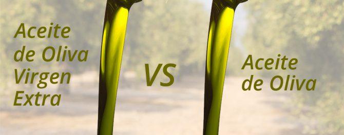 Aceite de oliva virgen extra vs aceite de oliva