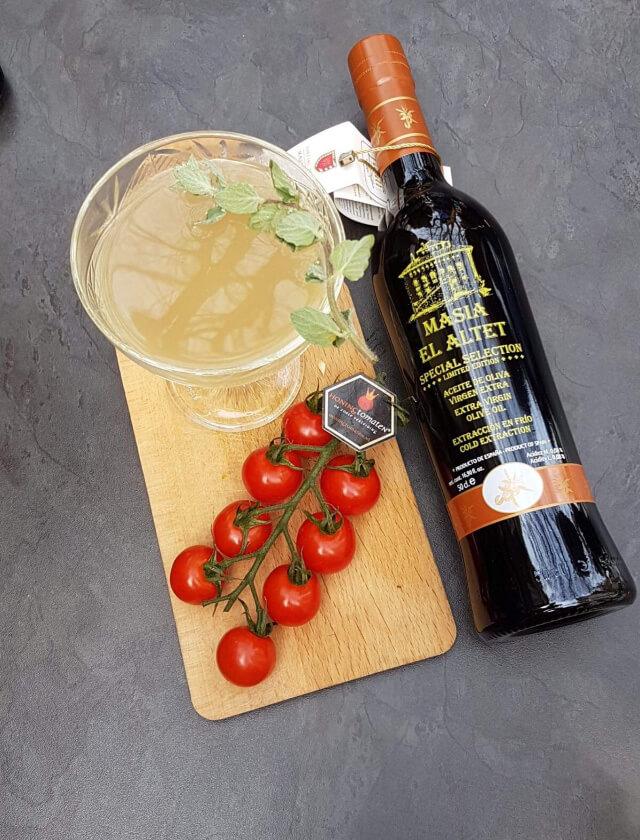 Olives on a Mission, tequila Don Julio infusionado con Masía el Altet