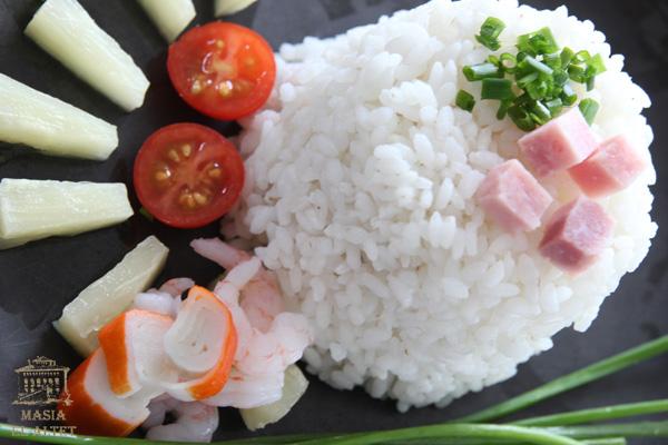 Ensalada de arroz con aliño de AOVE y mostaza