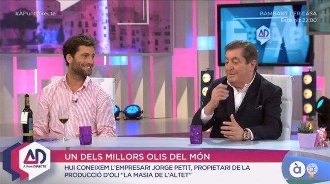 "La familia Petit, en el programa ""À Punt Directe"""