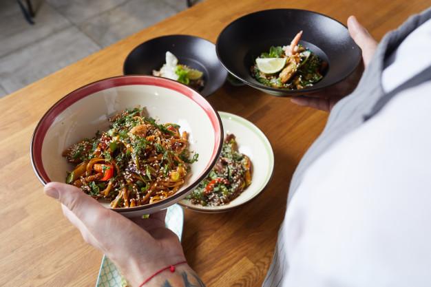 Receta vegana de Berenjenas al wok