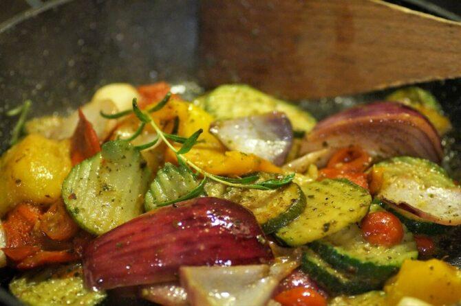 Verduras a la plancha con ajo aceite de almendra