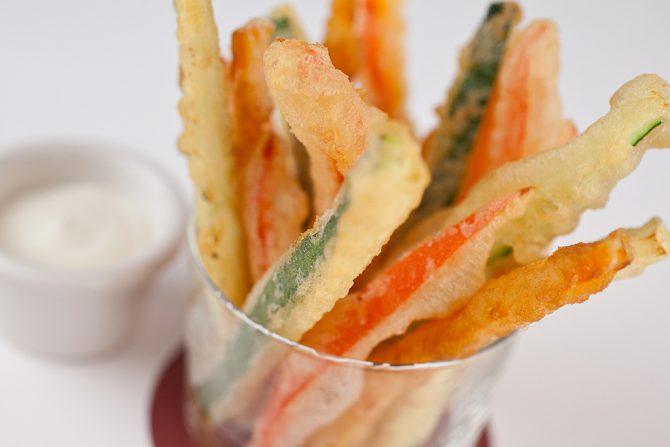 Receta de verduras en tempura muy fácil de hacer y súper sana