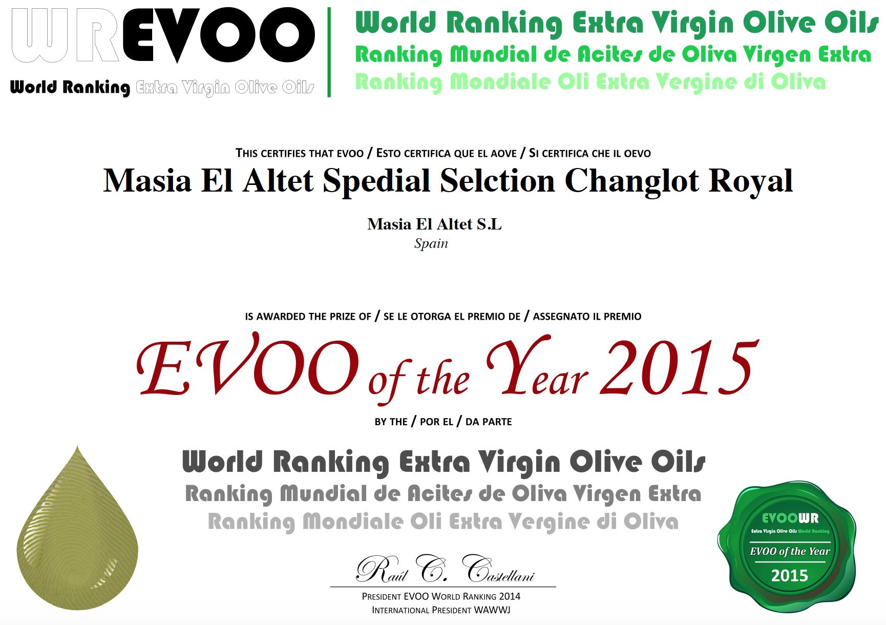 TOP 50 MEJORES ACEITES DE OLIVA VIRGENES EXTRA DEL MUNDO (SPECIAL SELECTION)