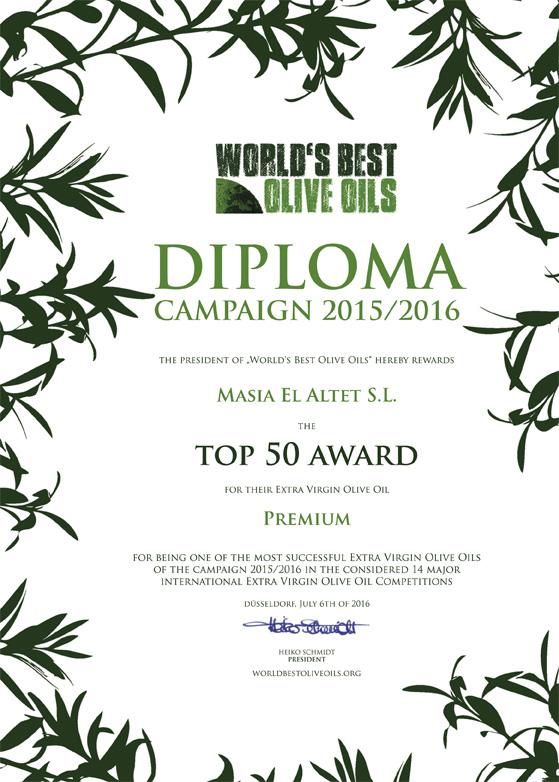 TOP 50 MEJORES ACEITES DE OLIVA VIRGENES EXTRA DEL MUNDO (PREMIUM)