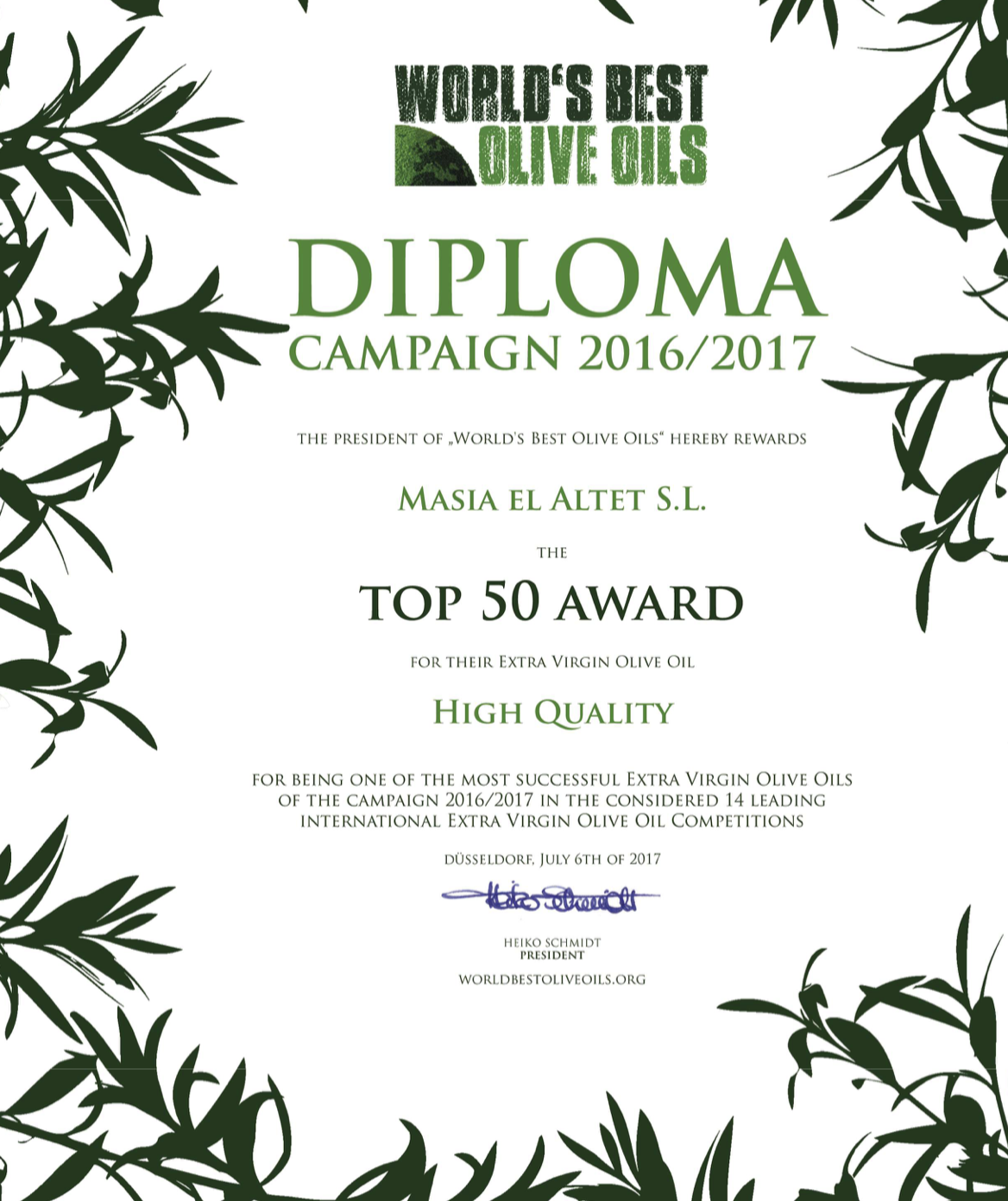 TOP 50 WORLD´S BEST OLIVE OILS IN THE WORLD